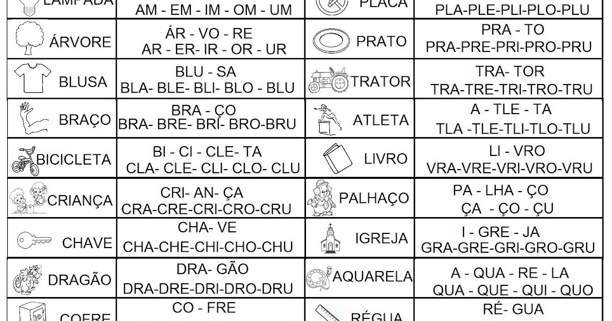 Paraiso Do Educando Silabario Silabas Complexas
