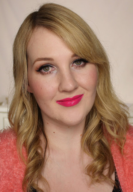 L'Oreal Lip Paint Lacquer - Fuchsia Wars Swatches & Review