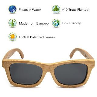 Bamboo Framed Sunglasses