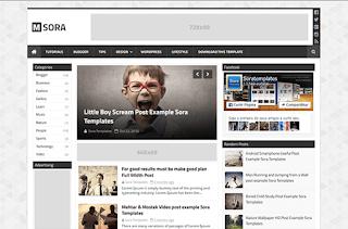 mSora Blogger Template