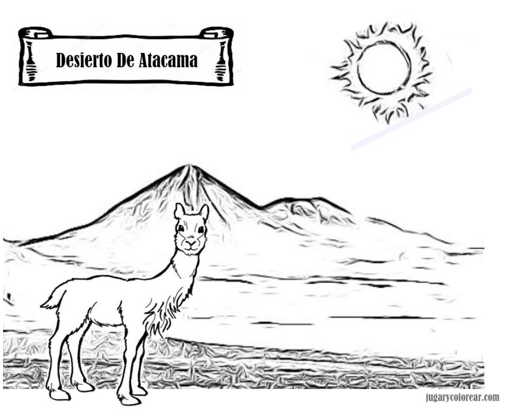 Chile, dibujos y láminas para colorear