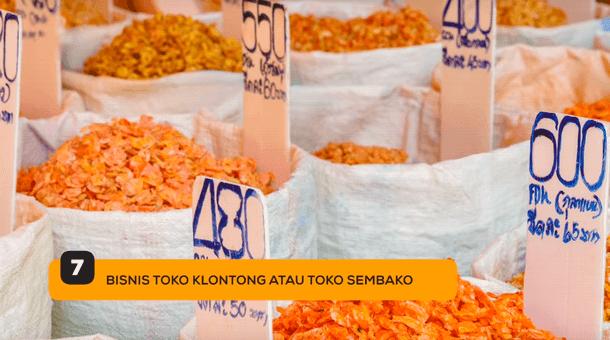 7. Bisnis Toko Kelontong atau Toko Sembako