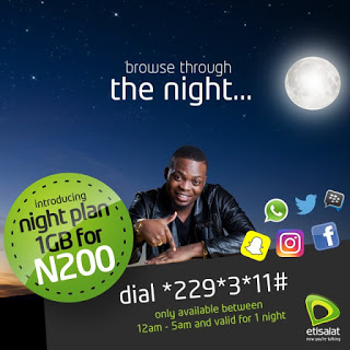Etisalat 1GB Night Plan For Just N200