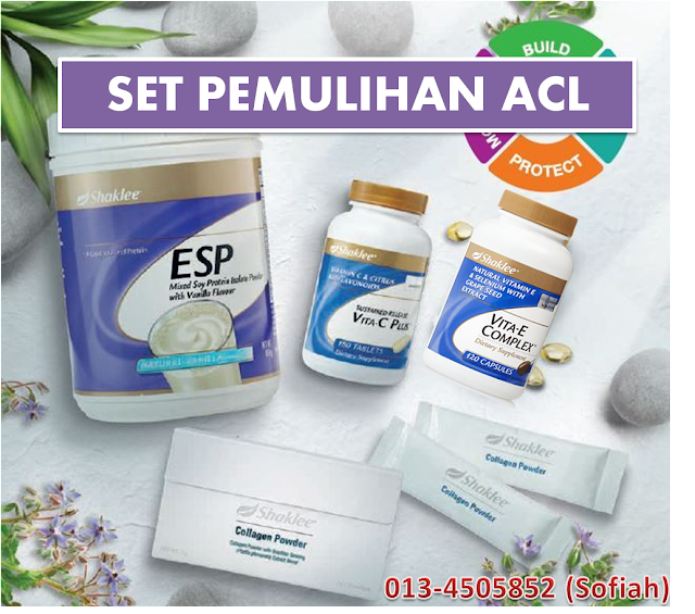 rawatan alternatif ACL putus dengan supplement shaklee