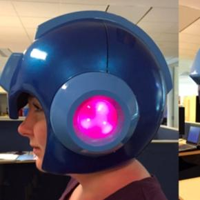 Casco Megaman LED