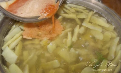 Preparare supa de fasole verde-etapa 6
