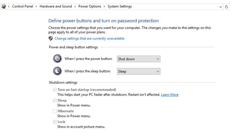 Setting Power Laptop