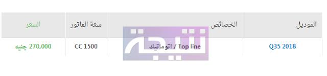 أسعار سيارات شانجى 2018 في مصر