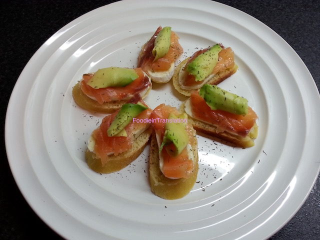 Finger food salmone e formaggio - Cheese and salmon finger food