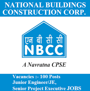National Buildings Construction Corporation, NBCC, New Delhi, JE, Junior Engineer, Graduation, Project Executive, freejobalert, Sarkari Naukri, Latest Jobs, nbcc logo