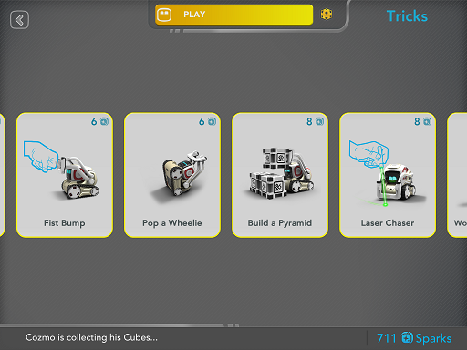 cozmo tricks menu