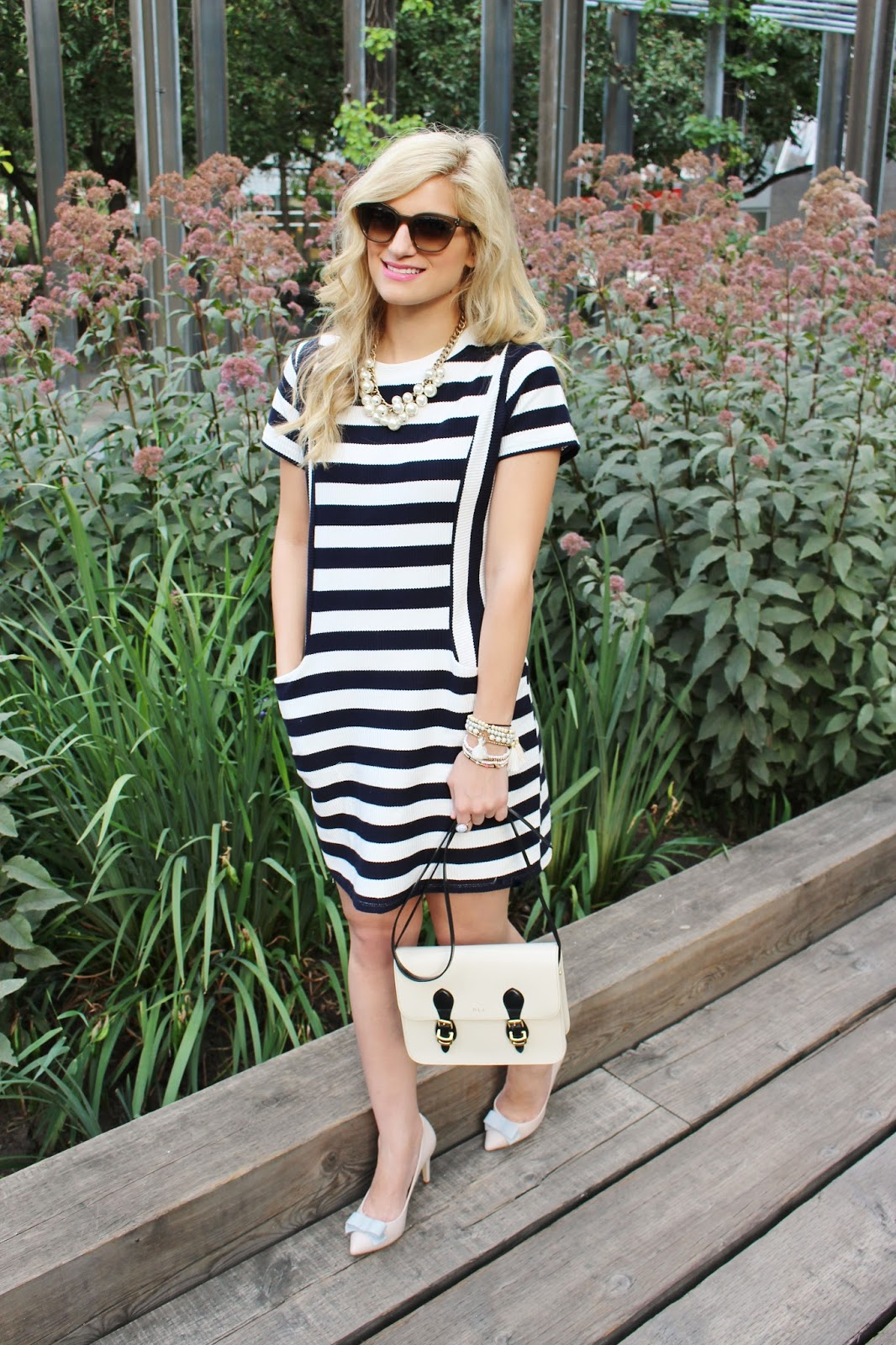 bijuleni - stripe print casual dress