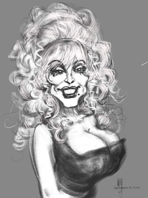 Dolly Parton caricature by Artmagenta