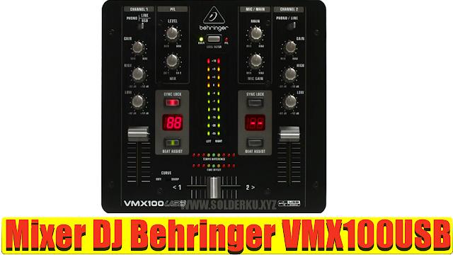 Mixer DJ Behringer VMX100USB 2-channel