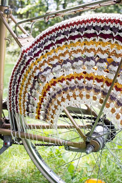 Gehäkeltes Fahrradnetz DIY