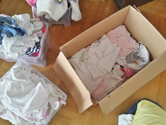 Razvrstavanje bebine odjeće