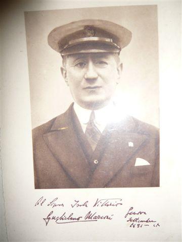 Foto con autografo di Guglielmo Marconi