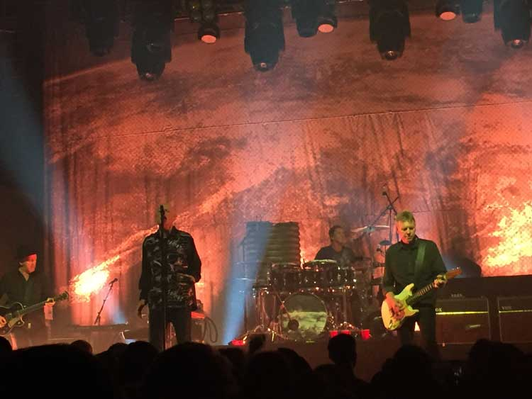 Midnight Oil performs at Webster Hall in New York City on May 13.