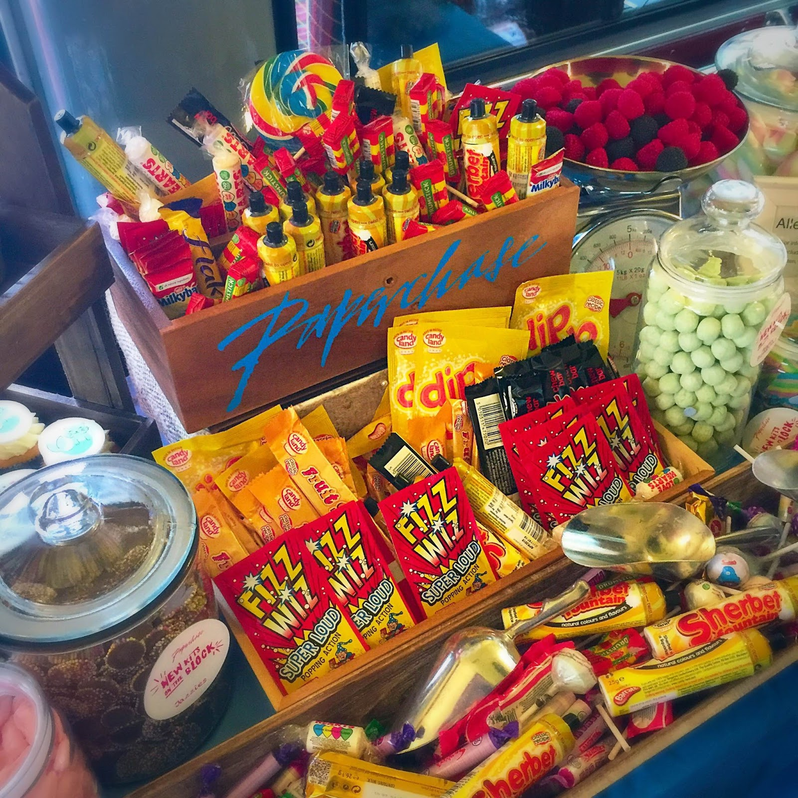 retro sweets and old skool candy bar