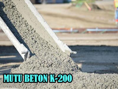 HARGA BETON JAYAMIX MUTU K200, MUTU BETON K200, HARGA MUTU BETON COR K200