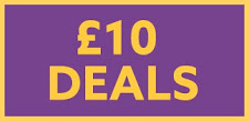 £10 deals!  Very good selection.  Up to £30 of usual prices