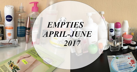 Пустые баночки апрель-июнь 2017/Empties april-june 2017
