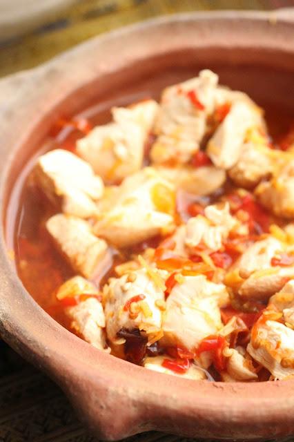 garniture poulet pour nouilles chinoises hunan