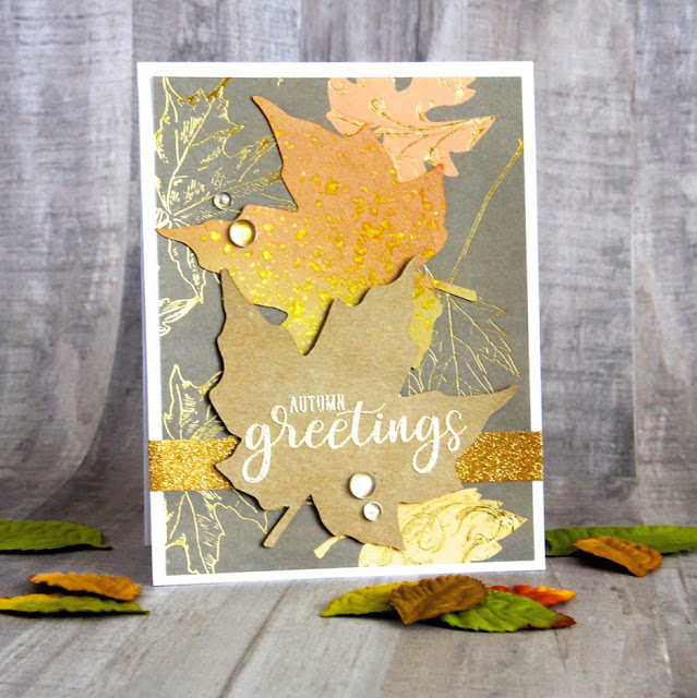 Sunny Studio Stamps: Autumn Greetings card by Carolyn Miranda