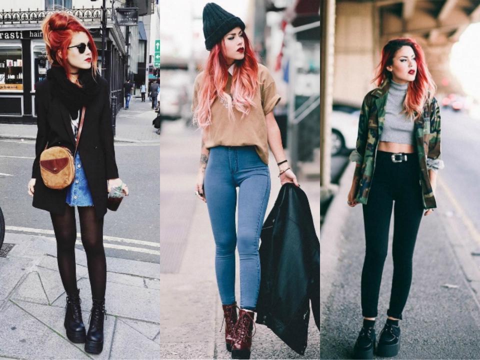 Looks Lua P, Lua P tumblr, cabelo vermelho, cabelo colorido tumblr, looks tumblr, look das gringas, estilo das gringas