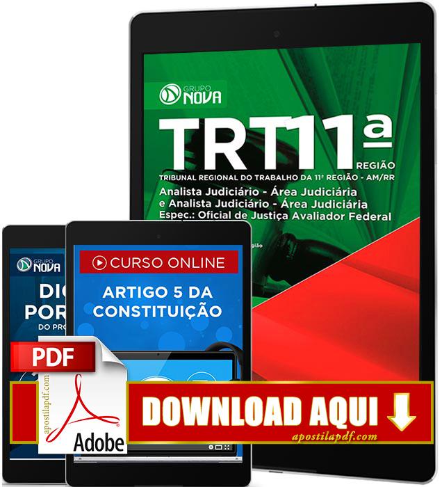 Apostila TRT 11 2016 PDF Download Oficial de Justiça