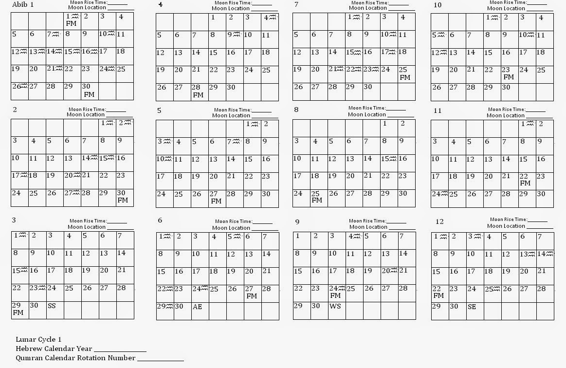 raggedy cottage and garden: Qumran Calendar Template