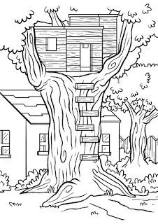 דף צביעה בית על עץ