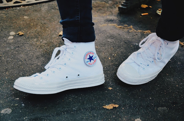 60293e1919c5 ... red white blue Paris  Voici la paire de Converse X Colette X Club 75 .  ...