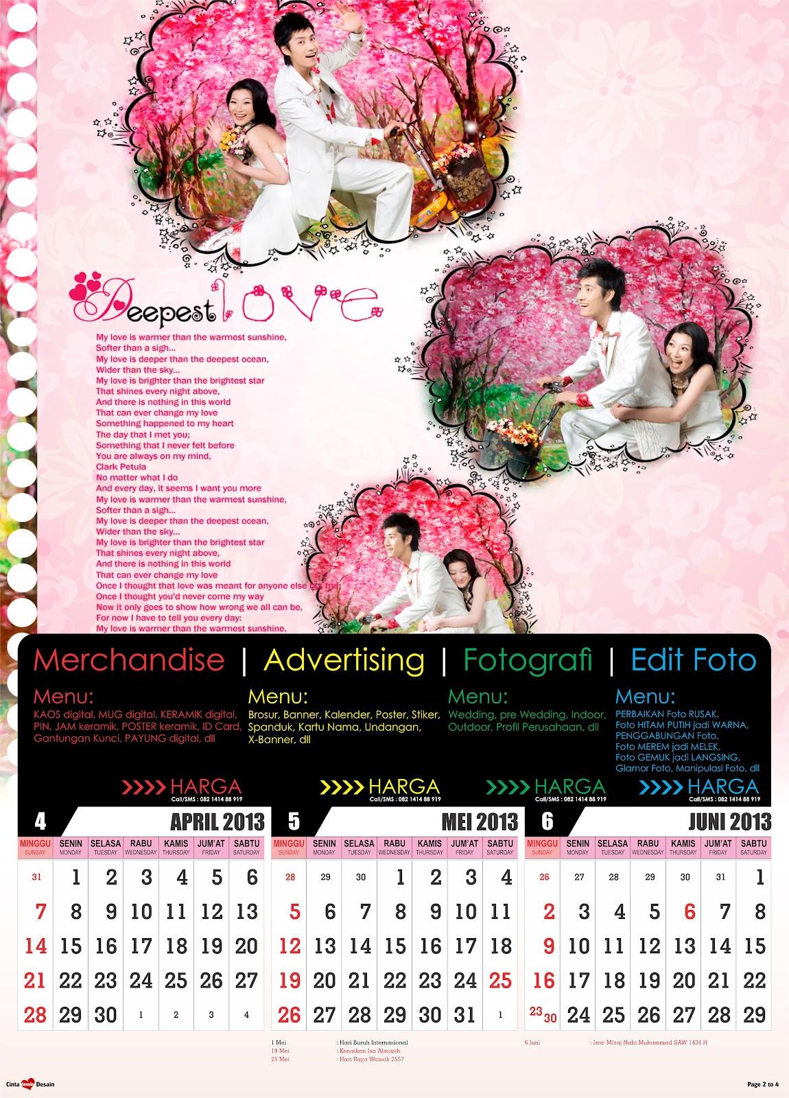 Download Kalender 2013 Format CorelDRAW | Contoh Desain ...