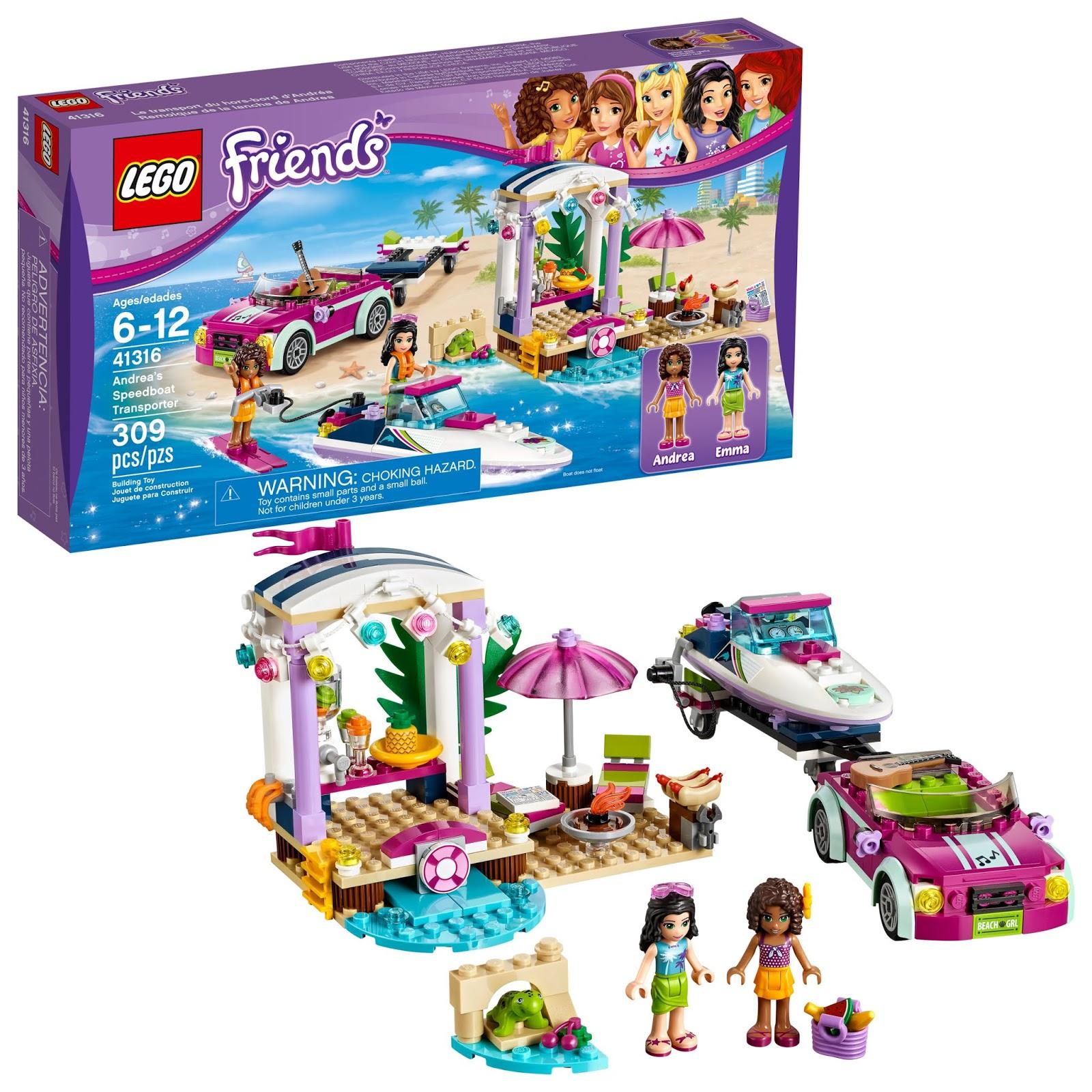 Lego Beach House Walmart: Walmart: LEGO Friends Andrea's Speedboat Transporter $17