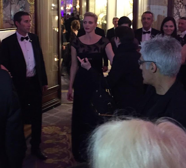 Princess Charlene wore Michael Kors Collection, Roland Mouret, Christian Dior gown  charity event in Monte-Carlo