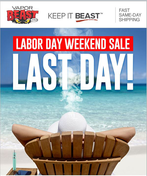 Vaporjoes com – Vaping Deals and Steals – LABOR DAY: LAST DAY FOR