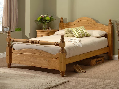 A Classic wooden bed frame