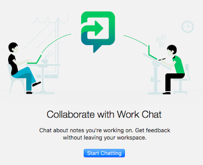 Evernote Collaboration with Work Chat