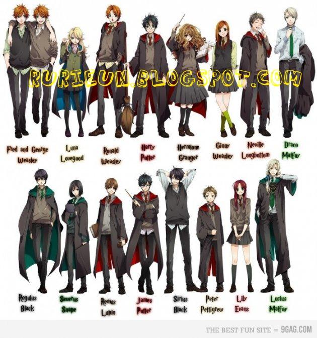 Ree Rurii Blog: Harry Potter Versi Anime