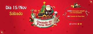 Chegada do Papai Noel no Pátio Alcântara terá brincadeiras com personagens infantis
