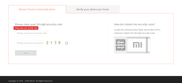 mi products Authentication