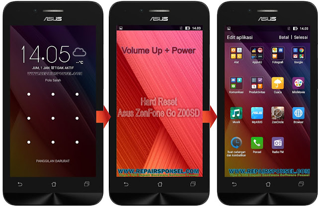 Cara Hard Reset Asus Zenfone Z00SD