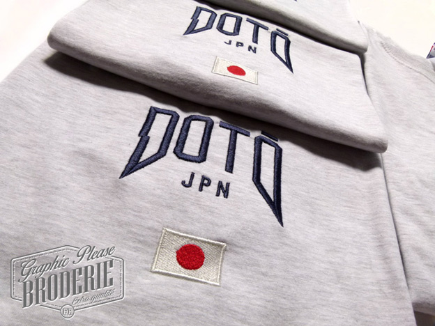 broderie graphic please marquage sur textile broderie sur t shirt logo doto japan. Black Bedroom Furniture Sets. Home Design Ideas