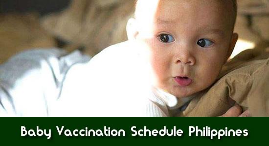 LIST: Baby Vaccination Schedule Philippines