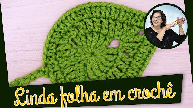 Edinir Croche ensina Como fazer essa linda folha em crochê para o Inverno - Folhas Edinir Croche