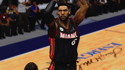 NBA 2K13 LeBron James Headband Hairline Cyberface