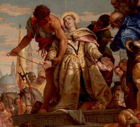 A detail from Paolo Veronese's altarpiece in the Basilica di Santa Giustina in Padua