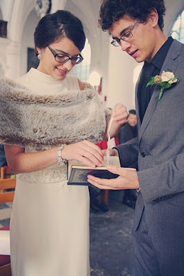 Wedding Soiree Blog by K'Mich, Philadelphia's premier resource for wedding planning and inspiration - glasses - bride and groom wearing glasses on their wedding day - wedding day ideas
