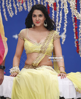 Sakshi Chodary in Yellow Transparent Sareei Choli Spicy Pics 12 .xyz.jpg